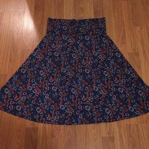 LuLaRoe Silky Floral Skirt
